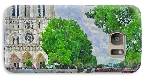 Notre Dame And The River Seine Galaxy S7 Case