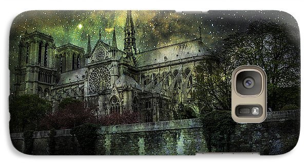 Galaxy Case featuring the photograph Notre Dame At Night by James Bethanis