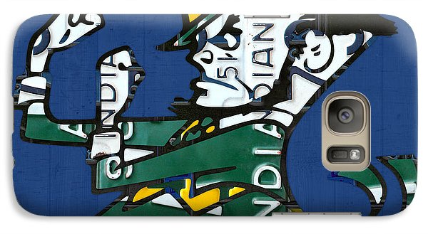 Notre Dame Fighting Irish Leprechaun Vintage Indiana License Plate Art  Galaxy S7 Case