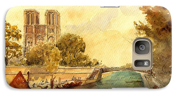 Notre Dame Paris. Galaxy Case by Juan  Bosco