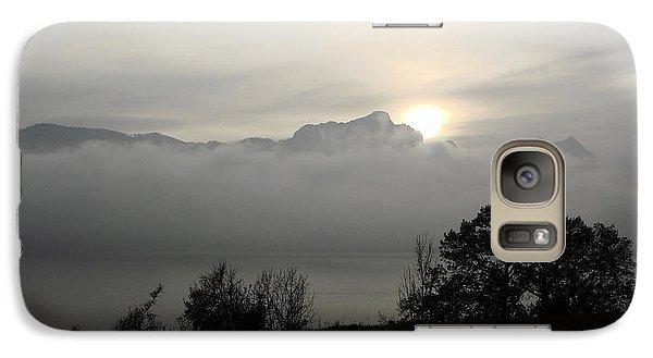 Galaxy Case featuring the photograph November Fog Over Moonlake by Menega Sabidussi