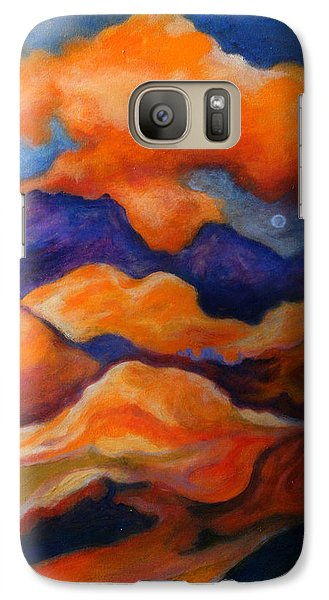 Galaxy Case featuring the painting November Landscape by Alison Caltrider