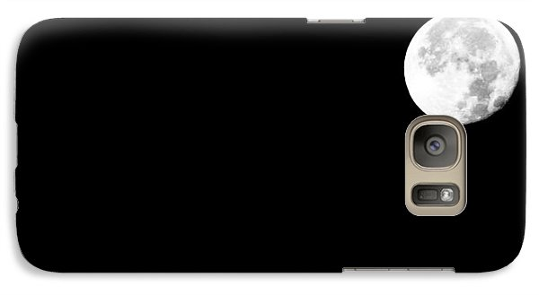 Galaxy Case featuring the photograph November Moon by Michael Nowotny