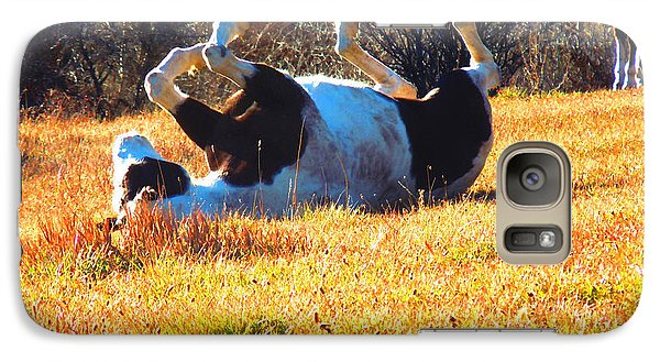 Galaxy Case featuring the photograph November Pasture Bliss by Anastasia Savage Ealy