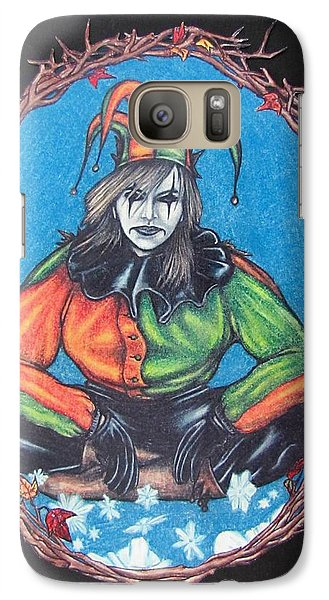 Galaxy Case featuring the drawing November Snow by Michael  TMAD Finney