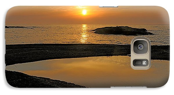 Galaxy Case featuring the photograph November Sunrise II - Lake Superior by Sandra Updyke