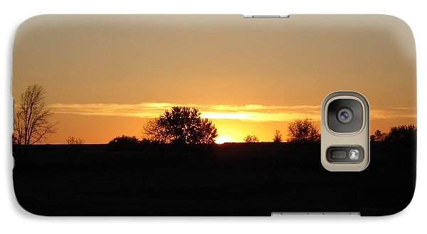 Galaxy Case featuring the photograph November Sunset  by J L Zarek