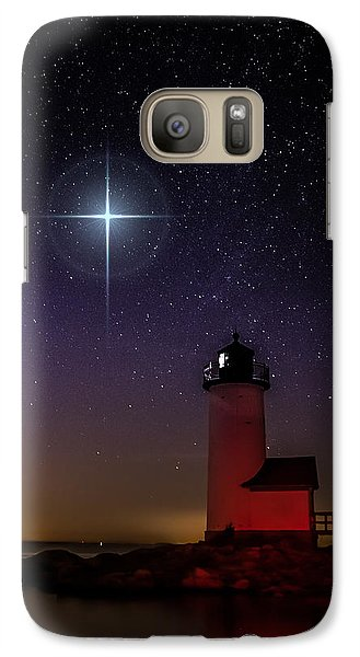 Galaxy Case featuring the photograph Star Over Annisquam Lighthouse by Jeff Folger