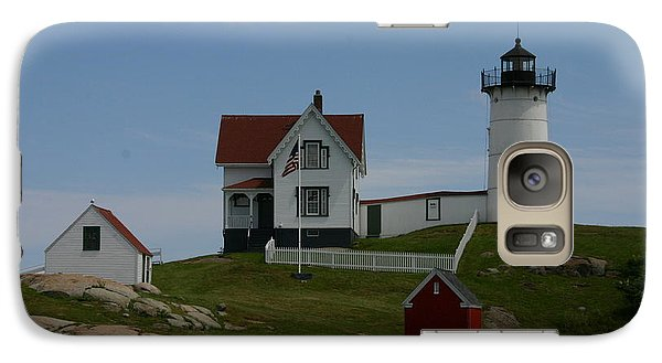 Galaxy Case featuring the photograph Nubble Light House York Maine by Denyse Duhaime