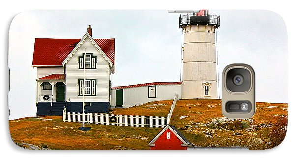 Galaxy Case featuring the photograph Nubble Lighthouse by Amazing Jules