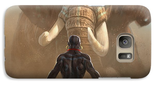 Galaxy Case featuring the digital art Nubian Warriors by Aaron Blaise