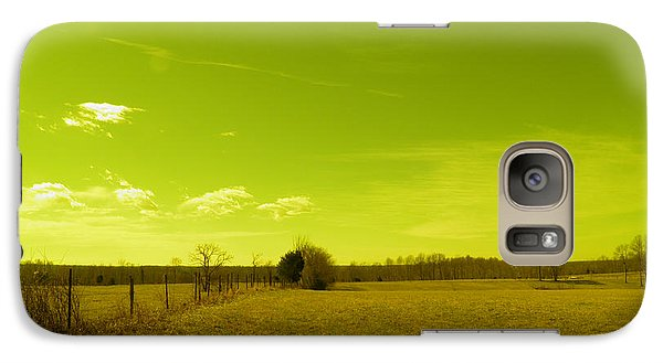 Galaxy Case featuring the photograph Nuclear Fencerow by Nick Kirby