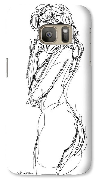 Galaxy Case featuring the drawing Nude Female Sketches 1 by Gordon Punt