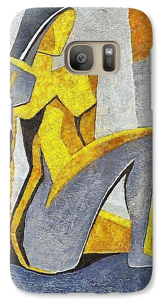 Galaxy Case featuring the painting Nude I by Dragica  Micki Fortuna