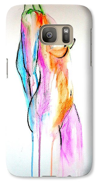 Galaxy Case featuring the painting Nude In Watercolor by Julie Lueders