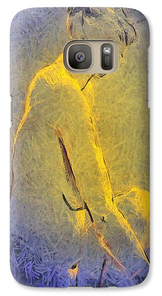 Galaxy Case featuring the painting Nude Iv by Dragica  Micki Fortuna