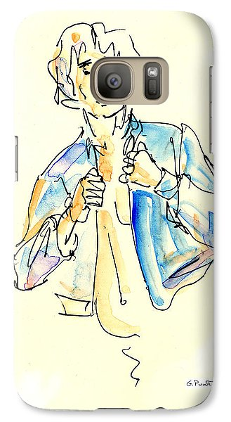 Galaxy Case featuring the painting Nude Male Drawings 4w by Gordon Punt