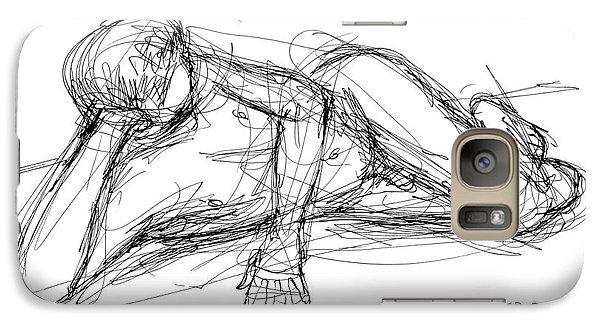 Galaxy Case featuring the drawing Nude Male Sketches 5 by Gordon Punt