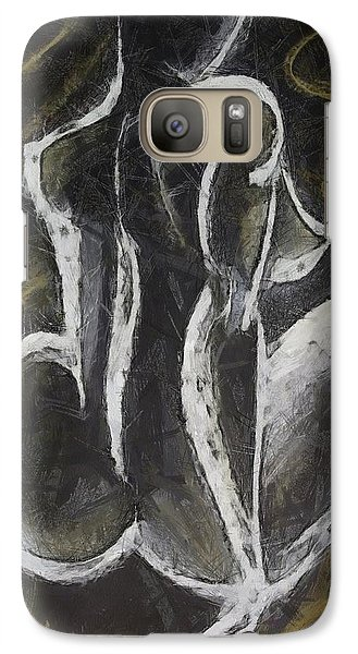 Galaxy Case featuring the drawing Nude  Vii by Dragica  Micki Fortuna