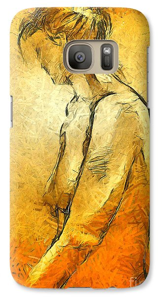 Galaxy Case featuring the painting Nude Viii by Dragica  Micki Fortuna