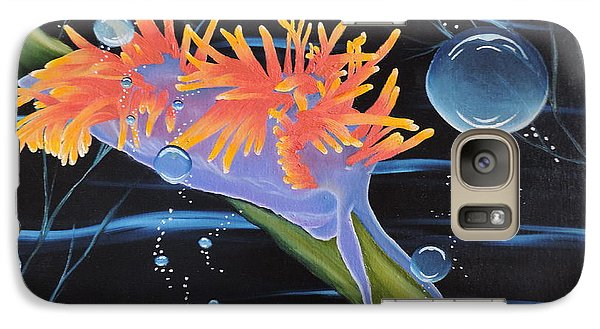 Galaxy Case featuring the painting Nudibranche by Dianna Lewis