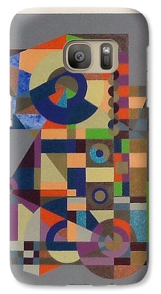 Galaxy Case featuring the painting Number 1 by Hang Ho