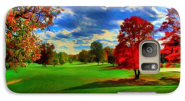 Galaxy Case featuring the digital art Number 13 by Dennis Lundell