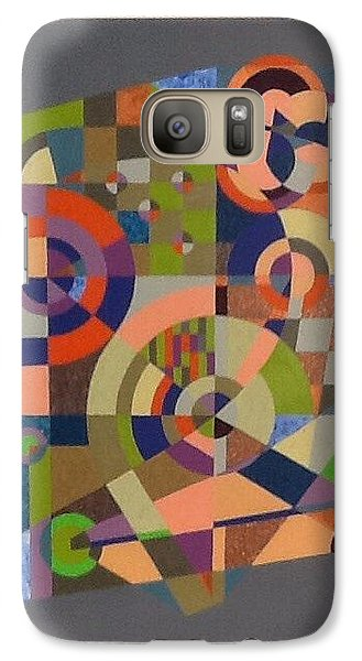 Galaxy Case featuring the painting Number 2 by Hang Ho
