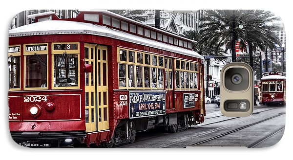 Galaxy Case featuring the photograph Number 2024 Trolley by Tammy Wetzel