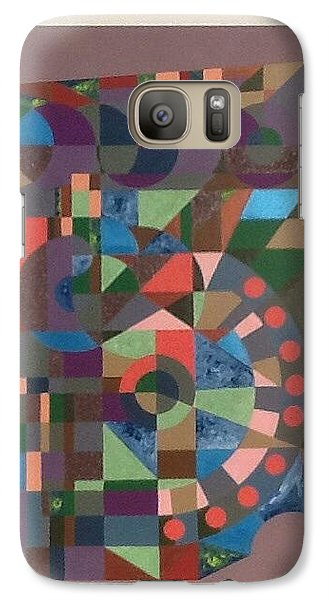 Galaxy Case featuring the painting Number 5 by Hang Ho