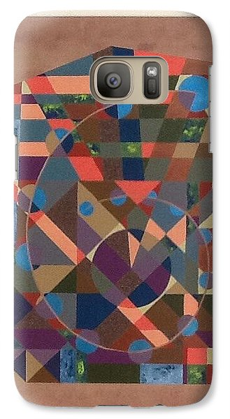Galaxy Case featuring the painting Number 6 by Hang Ho