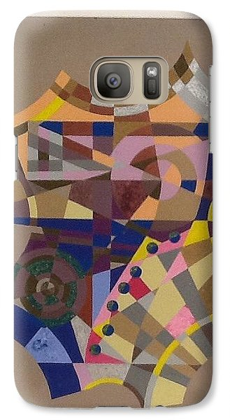 Galaxy Case featuring the painting Number 7 by Hang Ho