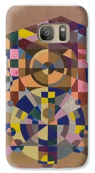 Galaxy Case featuring the painting Number 8 by Hang Ho