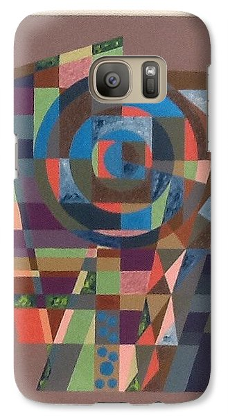 Galaxy Case featuring the painting Number 9 by Hang Ho
