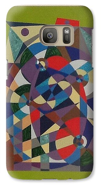 Galaxy Case featuring the painting Number Zero by Hang Ho