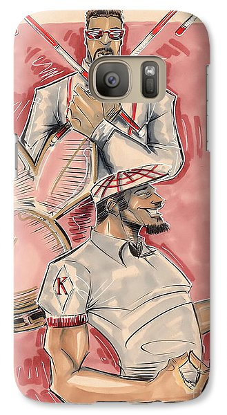 Galaxy Case featuring the drawing Nupes by Tu-Kwon Thomas