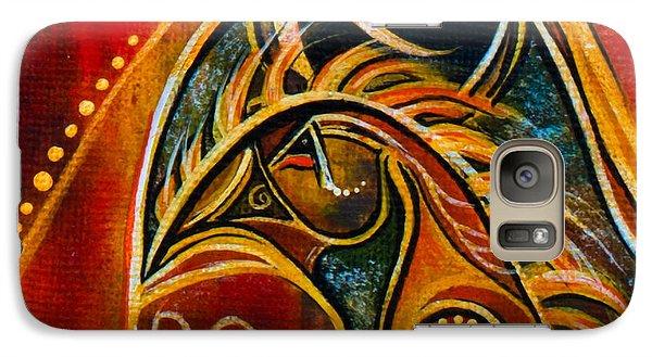 Galaxy Case featuring the painting Nurturer Spirit Eye by Deborha Kerr