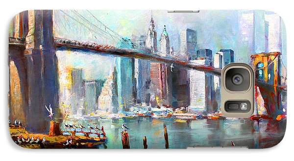 Ny City Brooklyn Bridge II Galaxy S7 Case by Ylli Haruni