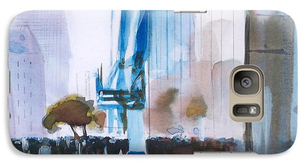Galaxy Case featuring the painting Nyny by Ed  Heaton