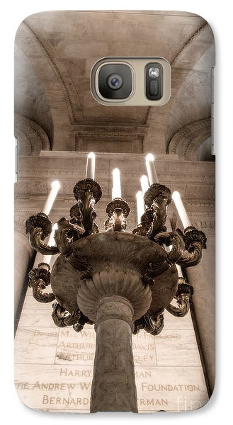 Galaxy Case featuring the photograph Ny Public Library Candelabra by Angela DeFrias