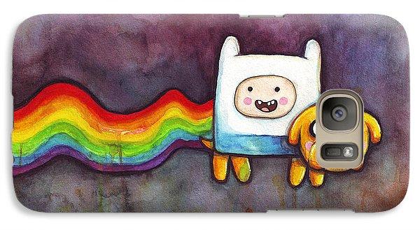 Nyan Time Galaxy S7 Case by Olga Shvartsur