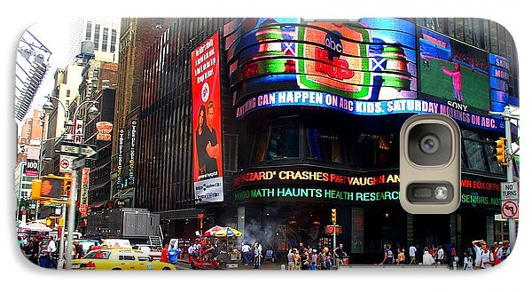 Galaxy Case featuring the photograph Nyc Abc Studios Times Square by Cleaster Cotton