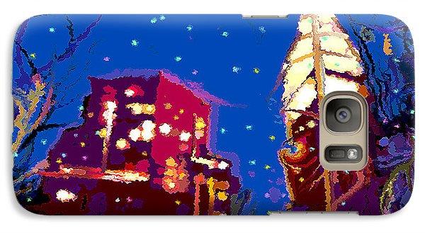 Galaxy Case featuring the digital art Nyc Holiday by David Klaboe