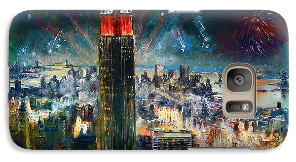 Empire State Building Galaxy S7 Case - Nyc In Fourth Of July Independence Day by Ylli Haruni
