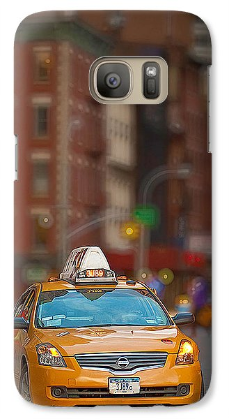 Galaxy Case featuring the digital art Taxi by Jerry Fornarotto