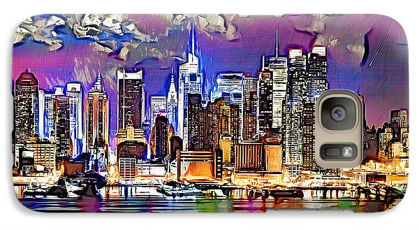 Galaxy Case featuring the digital art Nyc - Wallpaper by Daniel Janda