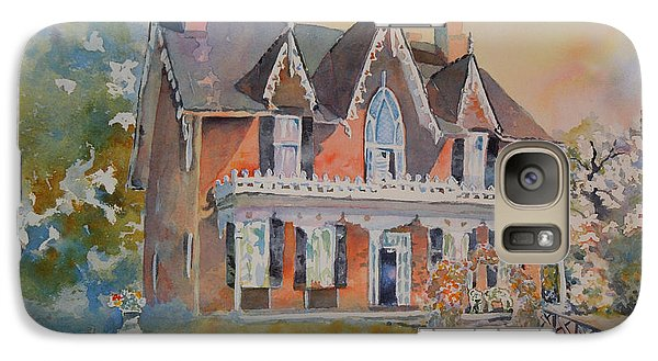 Galaxy Case featuring the painting Oak Hill Cottage by Mary Haley-Rocks