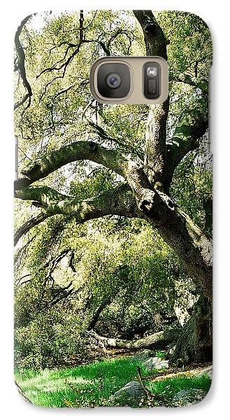 Galaxy Case featuring the photograph Oak Spirit by Kathy Bassett