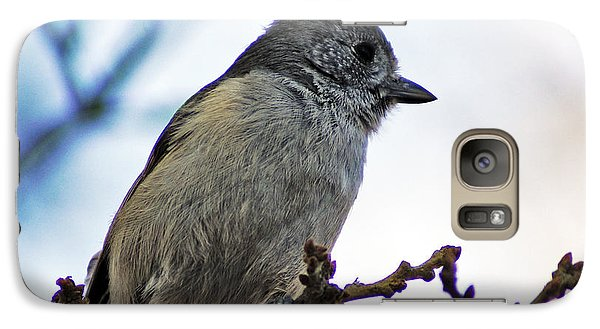 Galaxy Case featuring the photograph Oak Titmouse by Gary Brandes