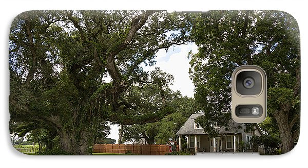 Galaxy Case featuring the photograph Oak Trees Around Country House by Gregory Daley  PPSA